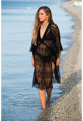 Black lace lingerie summer dress