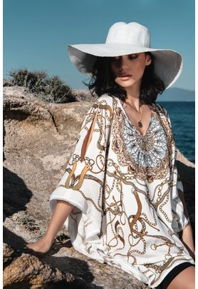 short white kaftan