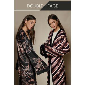 Double-sided printed maxi kimono