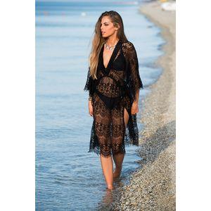 Black lace lingerie summer dress